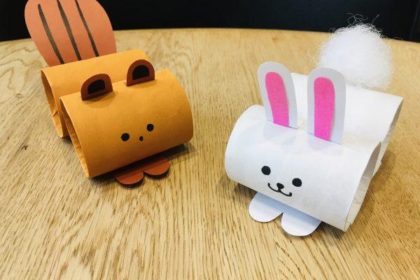 保育園 9月 製作|トイレットペーパーの芯でウサギとリスを作ろう!活動のねらい付 イメージ
