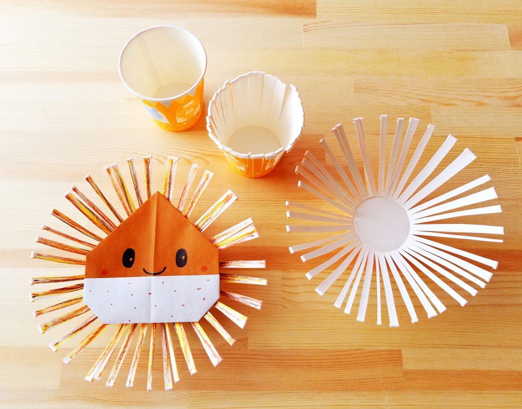 保育園 11月製作 紙コップと紙皿で作る「栗」