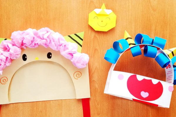 保育園 2月 製作 牛乳パックと紙封筒で作る「節分の鬼お面」の作り方 イメージ