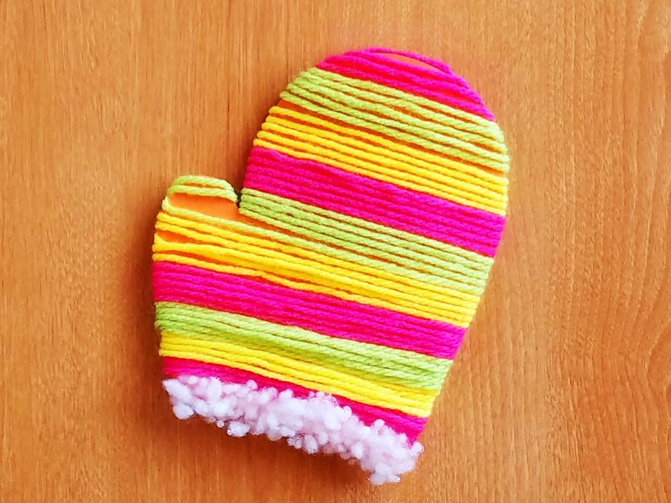 毛糸の手袋
