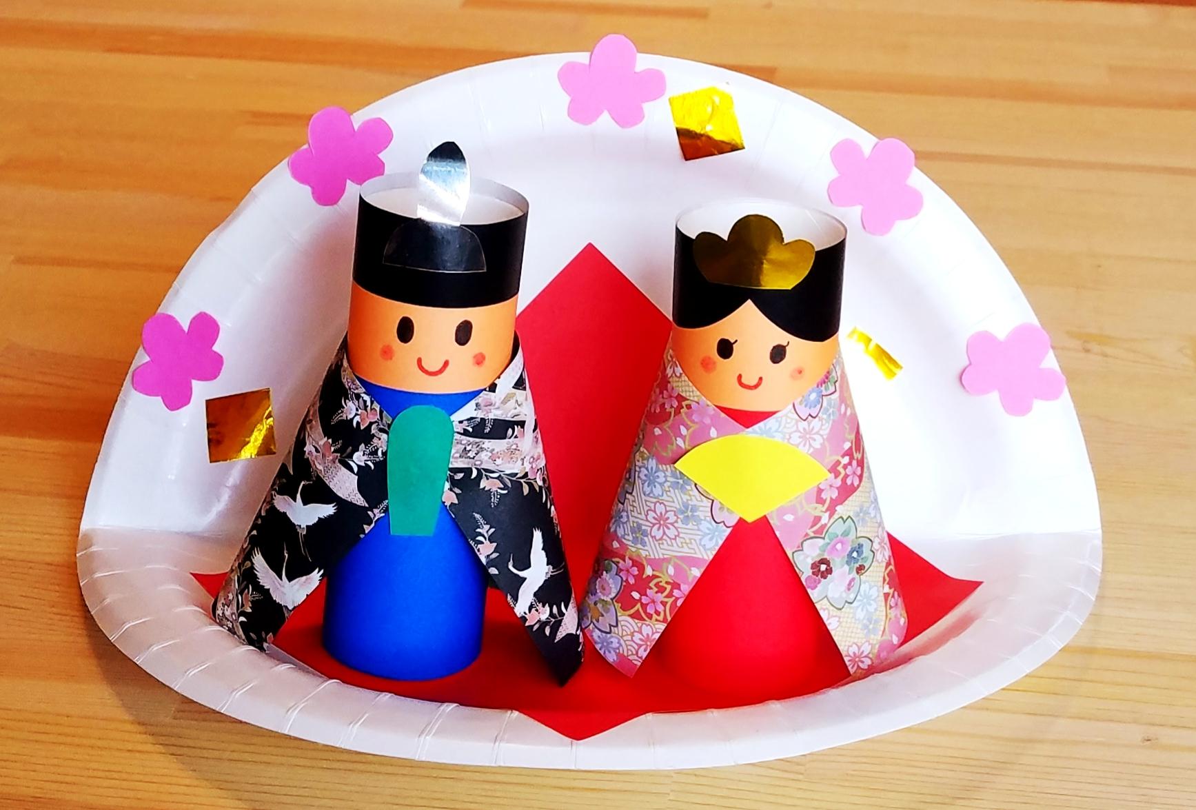 紙皿_お雛様_製作