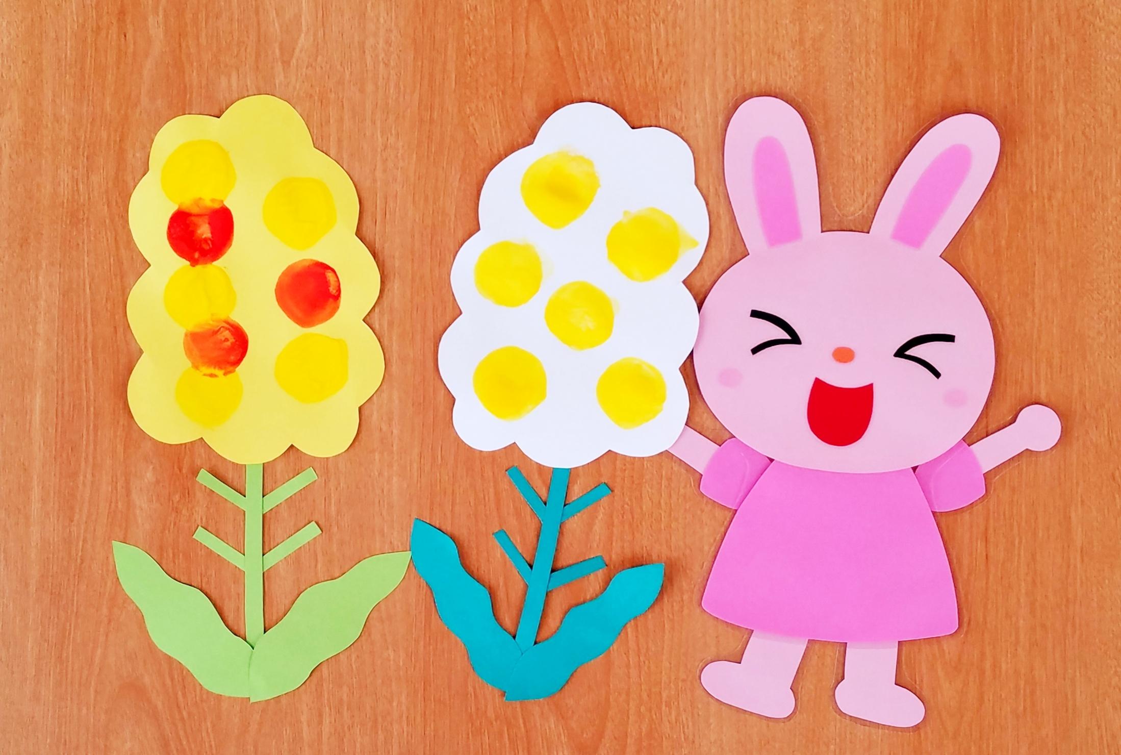タンポ_菜の花_製作