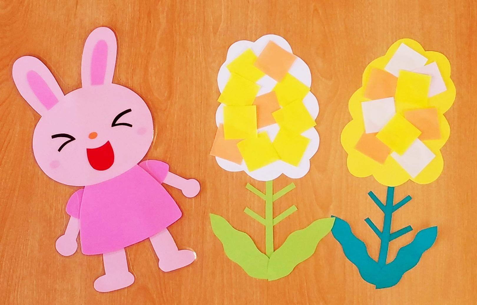 折り紙_菜の花_3月_製作