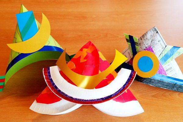「こどもの日」製作・かぶと(兜)を作ろう|紙皿・色画用紙・新聞紙|かぶとの折り方紹介 イメージ