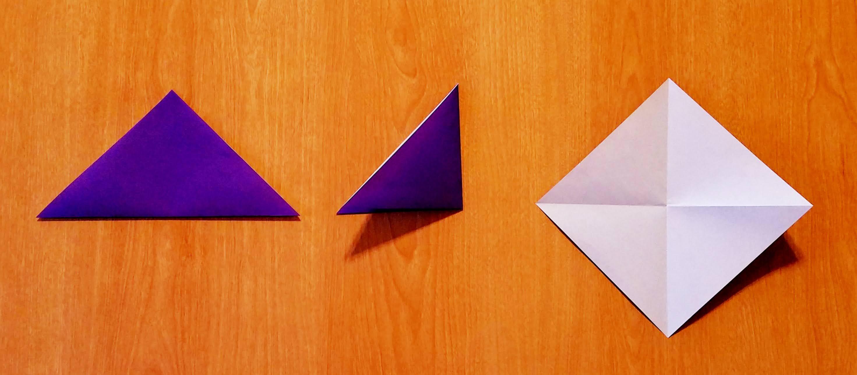 朝顔‗折り紙‗折り方