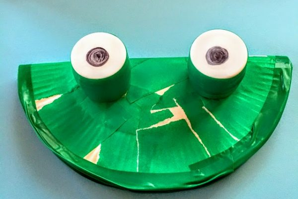 6月製作 指スタンプで雨を降らせよう!|紙皿・折り紙で傘やかえるの作り方紹介 イメージ