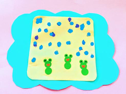 0歳児‗1歳児‗6月‗かえる製作