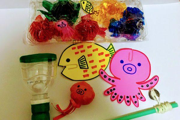 7月製作「魚」水遊びを楽しくする手作りおもちゃ イメージ