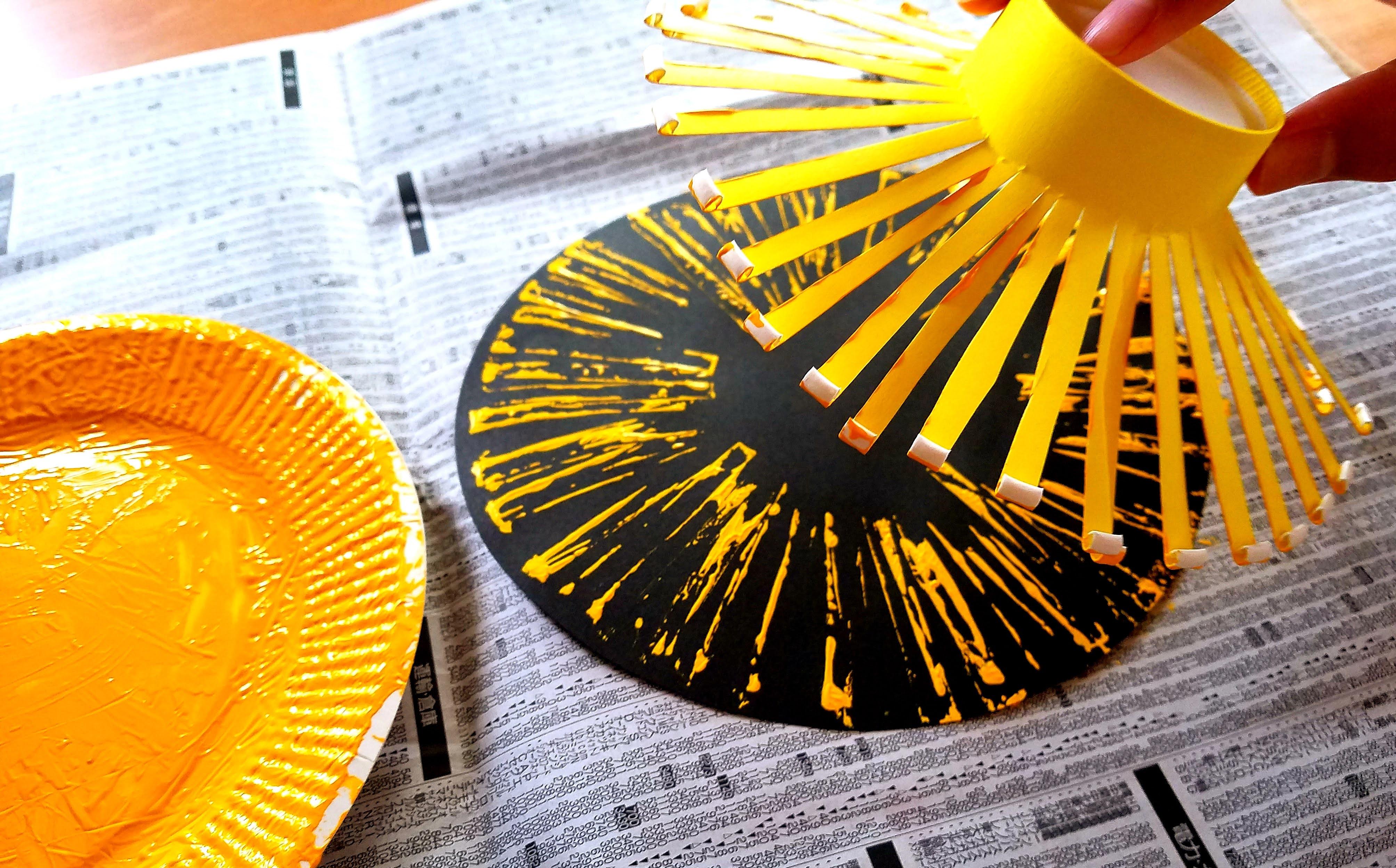 8月‗製作‗花火‗トイレットペーパーの芯