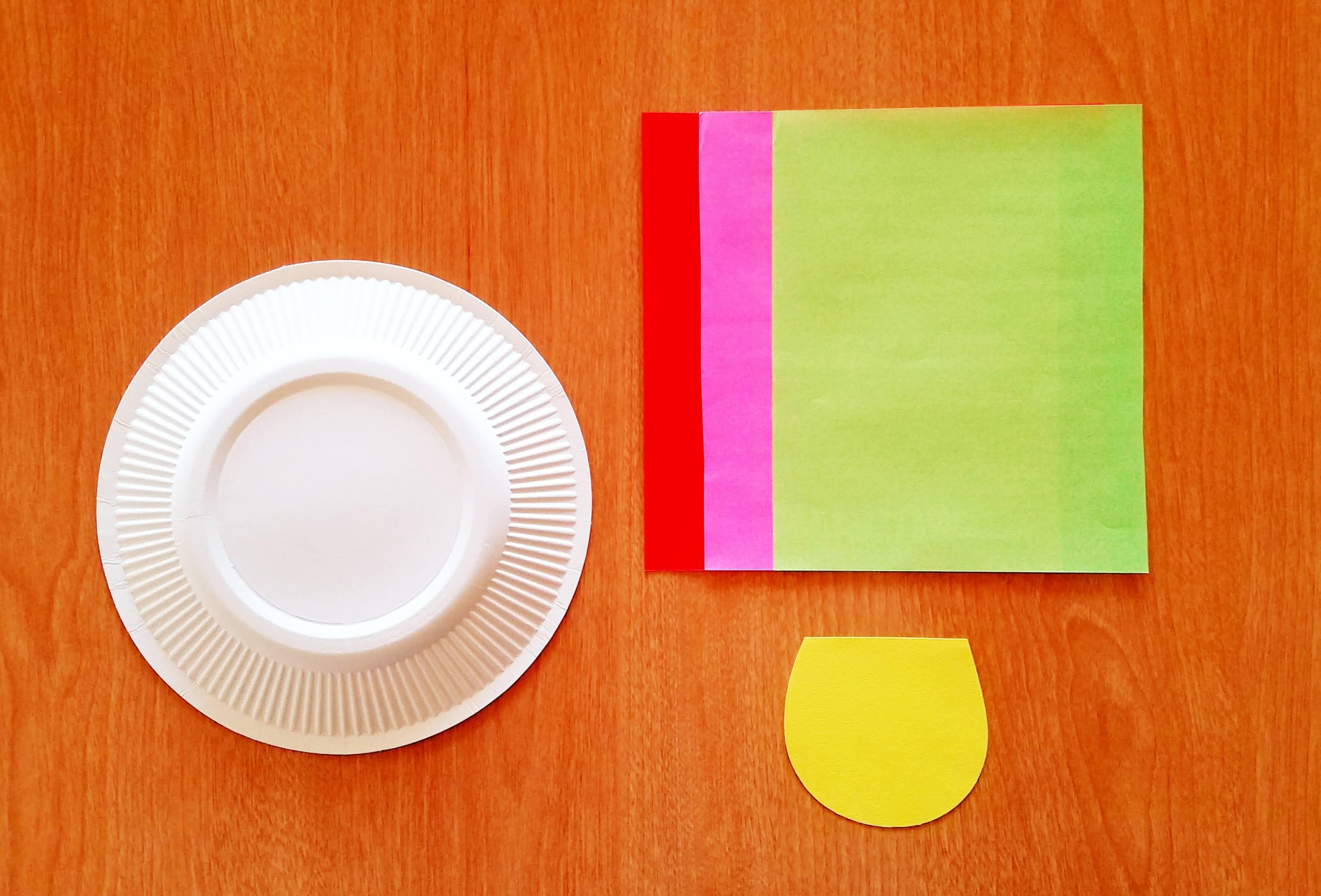 乳児の折り紙きのこの作り方