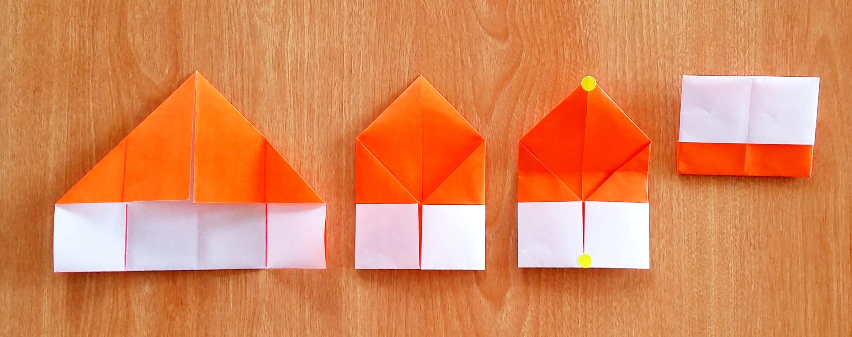 5歳児の折り紙きのこの作り方