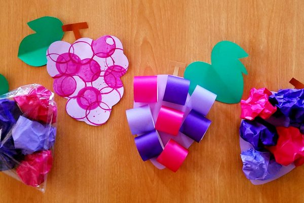 保育園 10月製作ぶどうアイデア4選!スタンプ・輪っか・折り紙でぶどうを作ろう イメージ