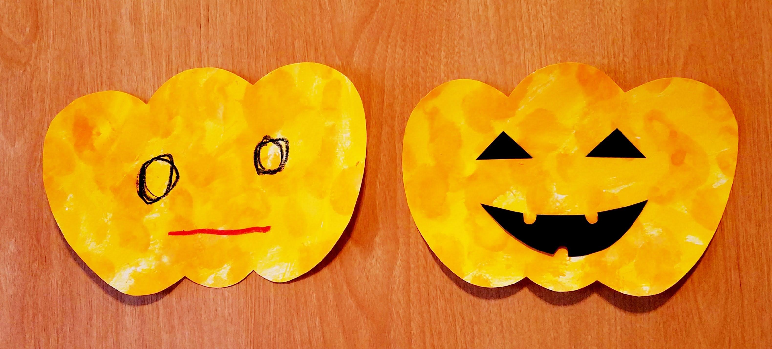 10月製作ハロウィン_かぼちゃ_乳児